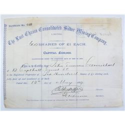 Last Chance Consolidated Silver Mining Company Stock Certificate