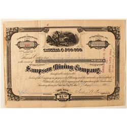 Sampson Mining Company Stock Certificate
