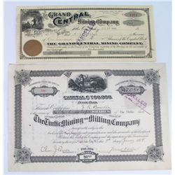 Tintic Mining District Stock Certificates