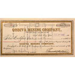 Godiva Mining Company Stocks Certificate, Utah Territorial