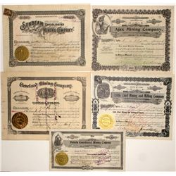 Juab County Mining Stock Certificates