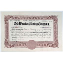 Red Warrior Mining Company Stock Certificate