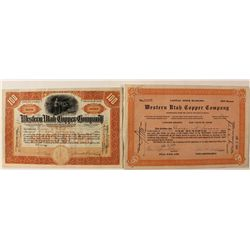 Western Utah Copper Company Stock Certificates
