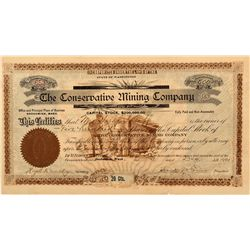 The Conservative Mining Company Stock Certificate
