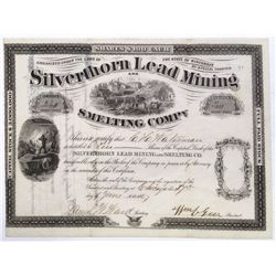 Silverthorn Lead Mining and Smelting Company stock certificate