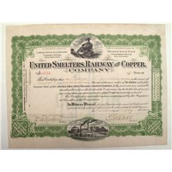 United Smelters, railway and Copper Stock