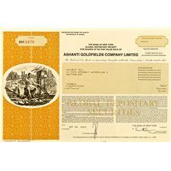 Ashanti Goldfields Company, Limited, Stock Certificate