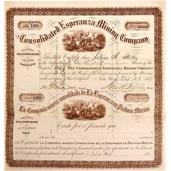 Consolidated Esperanza Mining Company Stock Certificate