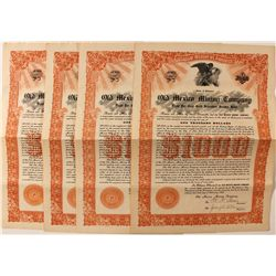 Old Mexico Mining Company Bond Certificates