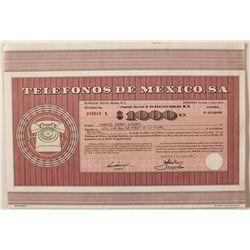 Telefonos De Mexico, S.A. Bond Certificate