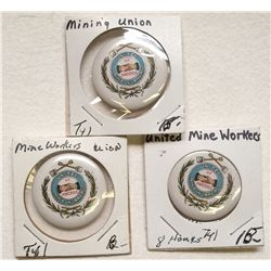Three UMW of America pins