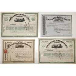 Variety of Mobile & Ohio Rail Road Co. Stock Certificates