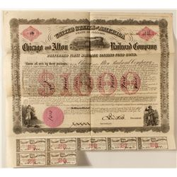 Chicago and Alton Railroad Company First Mortgage Sinking Fund Bond.