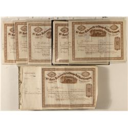 St. Louis, Jacksonville & Chicago Rail Road Co. Stock Certificate Archive