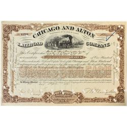 Unlisted Chicago and Alton Railroad Co. Stock Certificate