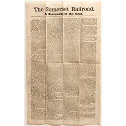 Somerset Railroad Broadside