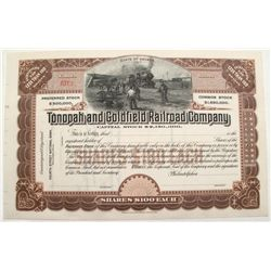 Tonopah and Goldfield Railroad Company stock