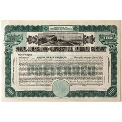 Fonda, Johnstown, and Gloversville Railroad Co. Stock Certificate