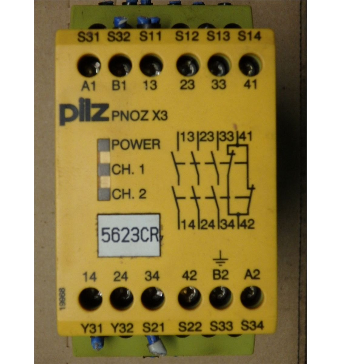 PILZ PNOZ X3 Safety Relay Pilz Safety Relay Wiring on lucas relay wiring, allen bradley relay wiring, crydom relay wiring, siemens relay wiring, bosch relay wiring, idec relay wiring, finder relay wiring,