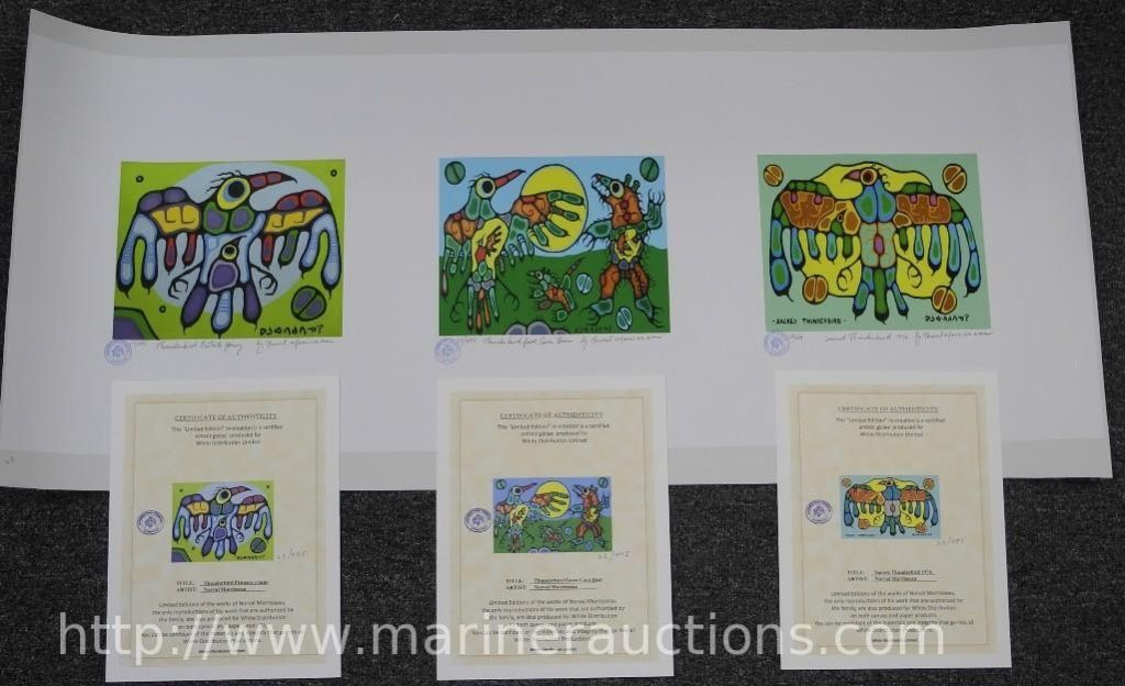 Morrisseau Matched Number Limited Edition Trilogy