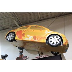 """FIND WHAT YOU LOVE"" LIFESIZE FOAM VW BEATLE CAR"
