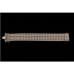 BRACELET: [1] Men's 14kw bracelet; two hundred ten (210) rb diamonds; 1.75mm =est. 4.45cttw; Good/J/