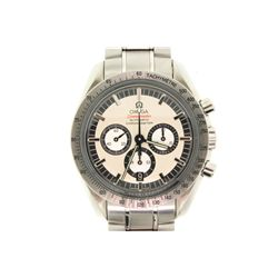 WATCH: [1] Men's Omega SpeedMaster Michael Schumacher limited edition chronograph wristwatch; 42mm c