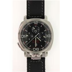 WATCH: [1] Men's St. Steel Anonimo Opera Militaire Chrono 2007 wristwatch; 43.5mm cushion case; blac