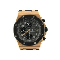 WATCH: [1] Men's 18kt rose gold Audemars Piguet Royal Oak Off-Shore chronograph wristwatch; 42.2mm c