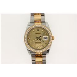 WATCH:  [1] Stainless steel and 18KYG gents Rolex Oyster Perpetual Datejust watch with a gold jubile