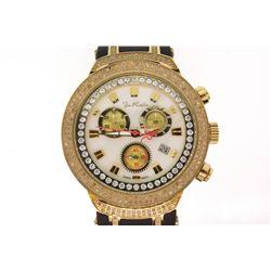 WATCH: [1] Men's St. Steel Joe Rodeo Master watch; MOP face, 3 sub dials, date @ 4:00; (252) rb diam