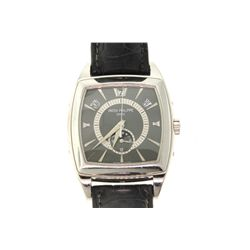 WATCH:  [1]  Platinum Gents. Patek Philippe Annual Calendar automatic watch with an anthracite dial