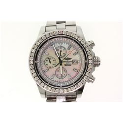 WATCH:  [1] Stainless steel gents Breitling Aeromarine Super Avenger Chronograph watch with an after
