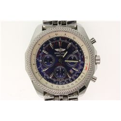 WATCH: [1] Gents St. Steel Breitling for Bentley Crosswind Special; Blue face, 3 sub dials, date @ 5