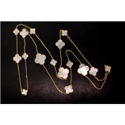 NECKLACE:  [1] 18KYG Van Cleef & Arpels Magic Alhambra necklace with 8 small, 5 medium and 3 large c