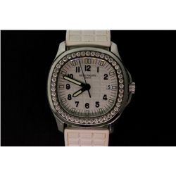 WATCH:  [1] Stainless steel ladies Patek Philippe Aquanaut Luce Pure White watch  with a white rubbe