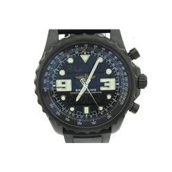 WATCH:  [1] Stainless steel gents Breitling Chronospace Analog Digital quartz watch with a black dia