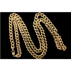 CHAIN: [1] Men's 10ky curb chain; 41 inches long, 10.89mm wide, lobster clasp; 121.1 grams.