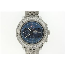 WATCH:  [1]  Stainless steel Gents. Breitling Aeromarine Super Avenger Chronograph automatic watch w