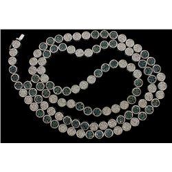 NECKLACE: [1] Men's 10kw necklace; (378) rb diamonds; 1.50mm =est. 5.70cttw; Good/I/I1-I2; (378) rou
