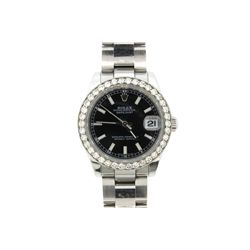 WATCH: [1] Stainless steel Rolex mid-size Oyster Perpetual Datejust wristwatch, 31mm, date at 3 o'cl