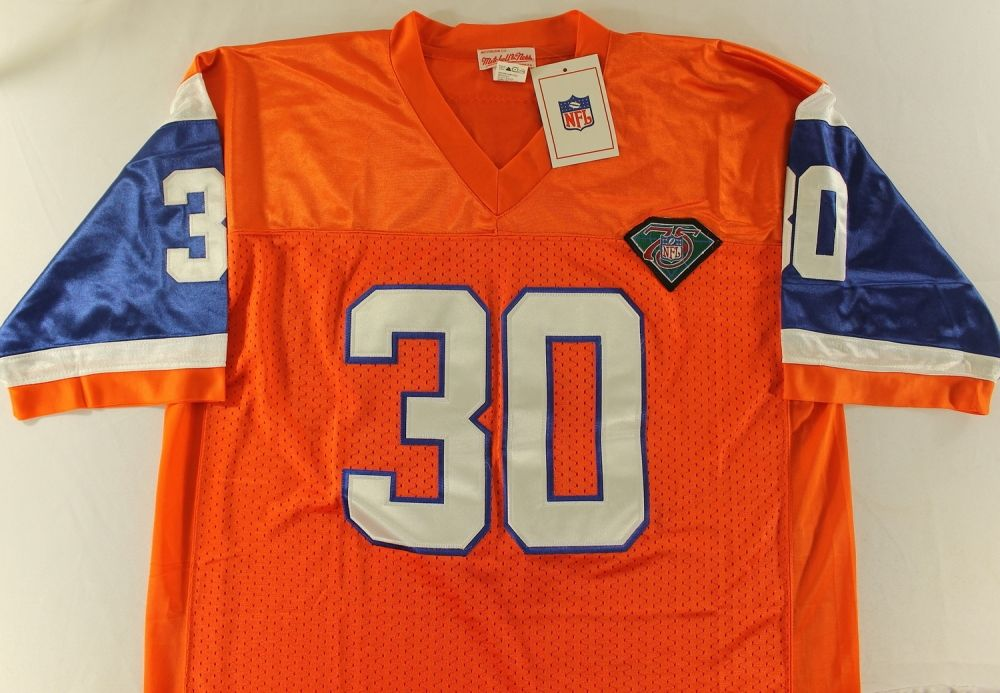 sale retailer 07df8 2ed70 Terrell Davis Signed Broncos Throwback Jersey (JSA COA)