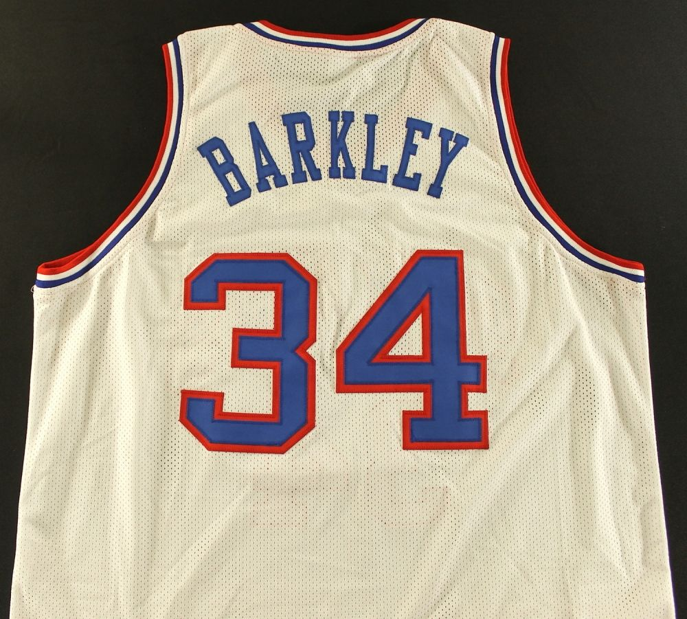 new product 7ba5e 33b8a Charles Barkley Unsigned 76ers Jersey (Size XL)