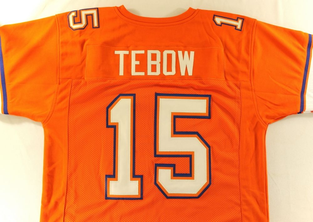 more photos 1b80c 0880a Tim Tebow Unsigned Florida Jersey (Size XL)