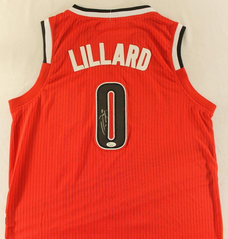 hot sale online cd545 a1021 Damian Lillard Signed Blazers Jersey (JSA COA)