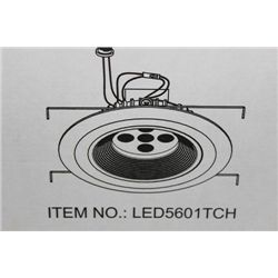 LED 5601-TCH RECESSED LIGHT X6