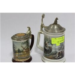 PAIR OF COLLECTIBLE WILDLIFE STEINS