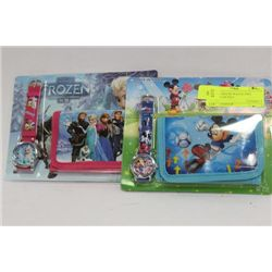 MICKEY MOUSE WATCH AND WALLET GIFTSET