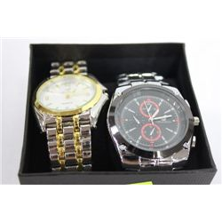 PAIR OF NEW MENS ST STEEL WATCHES ON CHOICE: