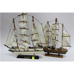 TWO COLLECTIBLE SHIPS ORNAMENTS